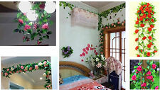 wholesale simulation flower cane rose vines/flower vine pretty wall hanging C
