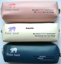 Polar Bear Beauty Cosmetic MakeUp Bag / Pencil Pen Case / Pouch 3 Colors Choose