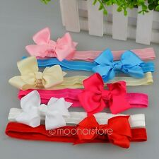 Bow Bowknot Hair Band Headband Headwraps for Little Girls Child Hair Accessories