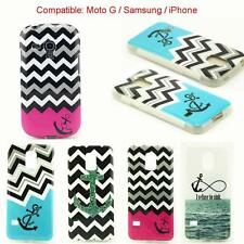 New Wave of Anchor Silicone Soft TPU Case Cover Skin For Samsung Moto G iPhone