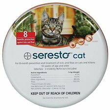 Seresto Flea & Tick Collar for Cats + Worming 2 Tablets gratis