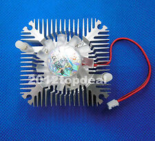 Aluminum Heatsink with fan for 5W/10W High Power LED light Cooling Cooler DC12V