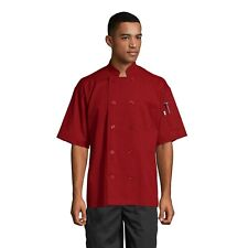 South beach short sleeve chef coat, many colors, sizes XS to 6XL, 0415