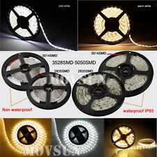 5M 3528/5050/2835/3014/5630 300/600/1200LEDs Flexible Strip Light Non/Waterproof