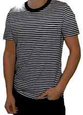 MENS New stripey  T Shirt Striped 60s Breton Top  Retro Indie Vtg  tee Nautical