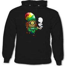 Rasta Minion Mens Funny Despicable Me Parody Bob Marley Reggae Dope Weed Hoodie