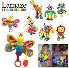 Plush toy stuffed doll lamaze animal baby rattle hang car bed bell ring gift 1pc