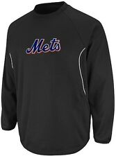 New York Mets Majestic Authentic Therma Base Tech Fleece Black Big & Tall Sizes
