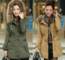 Hot!Lady Women Warm Winter Hooded Parka Overcoat Long Jacket Coat  001
