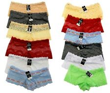 Lot 5-Pack Women's Lace Sheer Boyshort Hipster Underwear Panties Nylon S M L XL