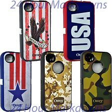 Authentic America USA OtterBox Defender Case Cover for Apple iPhone 4 4s