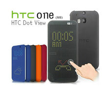HTC DOT VIEW CASE/COVER FOR NEW HTC ONE M8 - HC M100 - GENUINE OFFICIAL