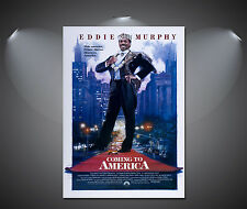 Coming to America Eddie Murphy Vintage Movie Poster - A1, A2, A3, A4 Sizes