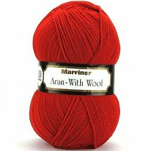 MARRINER YARNS ARAN WITH WOOL 400G - 9 COLOURS AVAILABLE