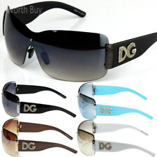 New Womens DG Sunglasses Eyewear Designer Shades Fashion Black White Large Size