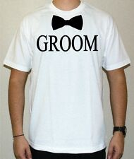 Bachelor Party T-shirts - Groom shirt with Bow Tie - Groomsman Best Man Wedding