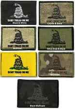 Tactical Gadsden Dont Tread On Me Patches  - Hook & Loop Velcro - KM Outfitters