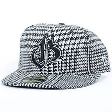 BODEGA MEDIEVAL LOGO FITTED HAT HOUNDSTOOTH BLACK WHITE NEW ERA 59FIFTY H6