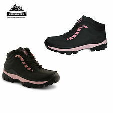 LADIES GROUNDWORK SAFETY LACE UP BOOTS WOMENS STEEL TOE CAP BOOTS SIZES 3-8