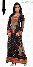 Kaftan Soft Printed Abaya, Maxi Dress TFMKF1273 - Plus Sizes - Small to 6XL