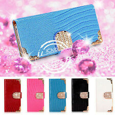MAGNETIC DIAMOND WALLET LEATHER FLIP CASE COVER FOR SAMSUNG S2 S4 S5 MINI NOTE 3