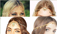 FASHION WOMENS BOHO METAL HEAD CHAIN HEADBAND HEAD PIECE HAIR BAND JEWELRY