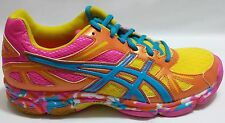 Asics Gel-Flashpoint Women's Volleyball Shoes(Orange Flame,Neon Blue,Hot Pink)