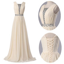Womens Sleeveless Cocktail Evening Dress Formal Party Ceremony Pageant Prom Gown