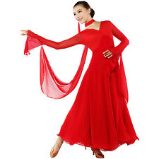 NEW Latin Ballroom Dance Dress Modern Salsa Waltz Standard Long Dress#C50