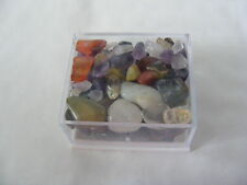 ASSORTED CRYSTAL CHIPS DRILLED OR UNDRILLED MIXED BOX FOR CRAFTS OR JEWELLERY