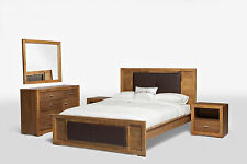 Solid Acacia Hardwood Timber Queen Size Bed with Package Options