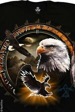DREAMCATCHER EAGLE-AMERICAN WILDLIFE BLACK T SHIRT M-L-XL-XXL NEW