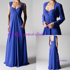 Mother of the bride dresses Long formal evening gown With Jacket Size 0-4-10-14+