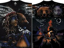 INDIAN BEAR-NATURE-SPIRIT-NATIVE AMERICAN-2 SIDED-T-SHIRT L-XL-XXL AWESOME