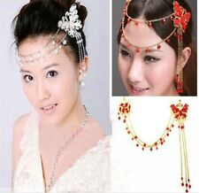 new wedding party Crystal Belly dance tiara Hair pins butterfly Headpiece Crown