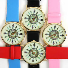 New PU Leather Feather Watch For Women Dress Watch Quartz Watches
