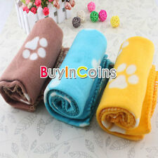 Pet Dog Cat gattino coperta morbida Alla Warm Bed Mat Paw Print cuscino rosa HF