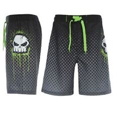 Mens No Fear Board Shorts ~ Black & Green Skull ~ Various Sizes ~