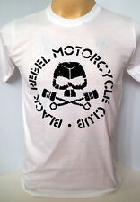 Black Rebel Motorcycle Club rock band BRMC handmade white t shirt size S,M,L,XL