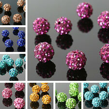 Free Shipping Variety of Color Shamballa Faux Crystal Beads 10mm DIY Bracelets