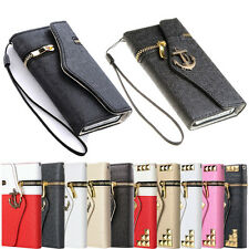 Luxury Zipper Wallet Flip Leather Dirt Proof Hard Case Cover For Samsung Galaxy
