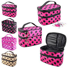Hanging Toiletry Travel Wash Organizer Case Cosmetic Makeup Dot Zip Bag Holder