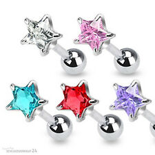 Tragus Studs Helix Cartilage Ear Piercing Stud Zirconia Crystal Star
