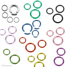 Titanium Segment Ring Smooth Nipple Lip Eyebrow Ear Piercing Colour Selection