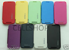 Motorola Moto E XT1022 Color Flip Flap Back Pouch Hard Cover Case + Screen Guard