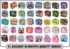 Official Character Childrens Kids School Soft Insulated Lunch Bag Sandwich Box