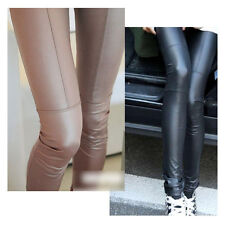 New Style Womens Sexy Faux Leather Leggings Pants Trousers Tights 2 Colors