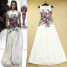Vintage RunWay Women Floral Printed Evening Party Maxi Long Boho Dress 2014 New