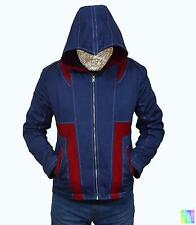 Mens Assasin Jacket as worn in the game Blue hooded Zipped Winter Coat 1063