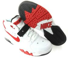 NIKE AIR FORCE MAX 2013 MEN'S WHITE/RED/BLACK SHOES, #555105-100